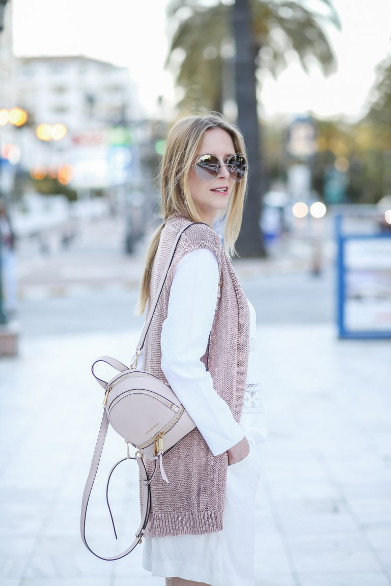 Summer pastels w/ a backpack