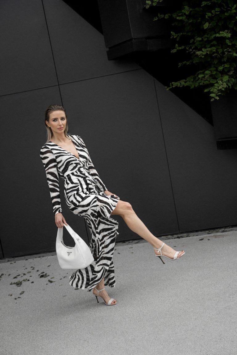 Zebra print dress.