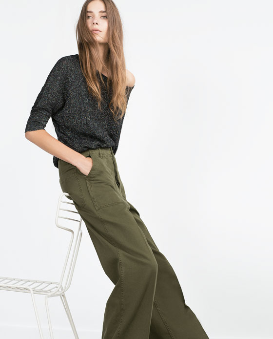 Shopping_Snap_of_the_day_Khaki_Wide_Leg_Pants_Zara_1