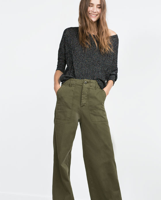 Shopping_Snap_of_the_day_Khaki_Wide_Leg_Pants_Zara_2