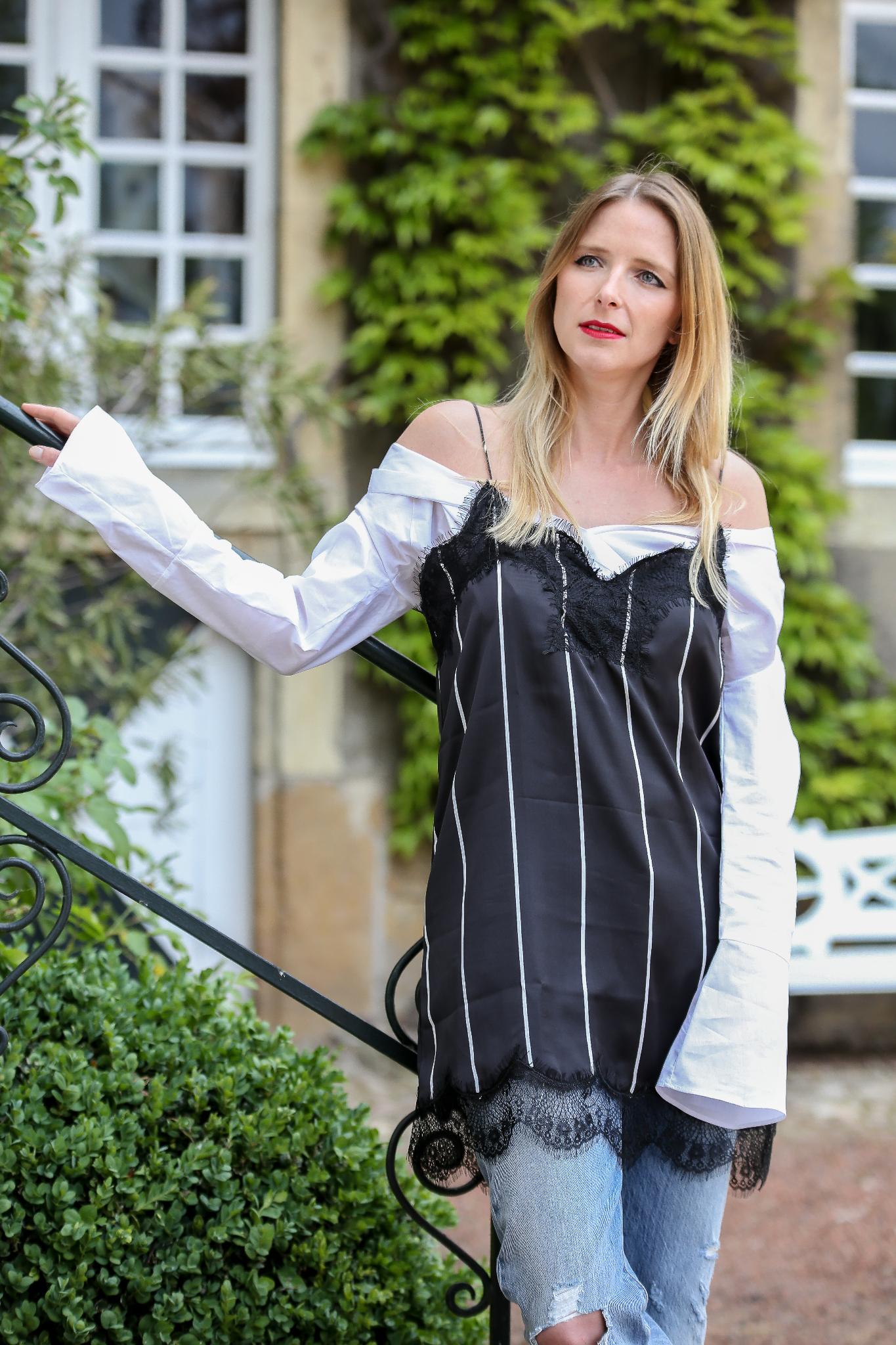 Fashion_Outfit_Off_Shoulder_Striped_Slipdress_MOD - by Monique-12