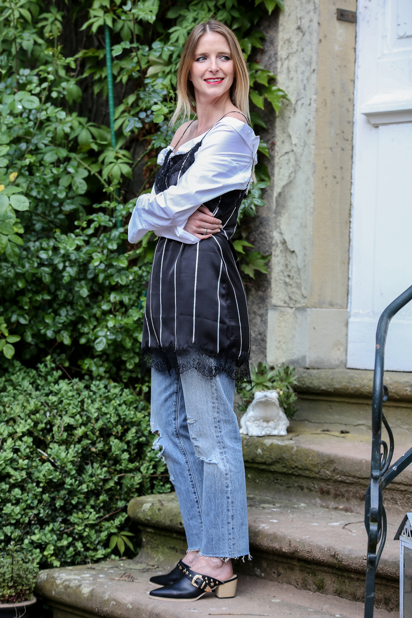 Fashion_Outfit_Off_Shoulder_Striped_Slipdress_MOD - by Monique-32
