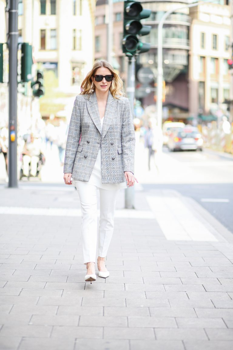 White and checked